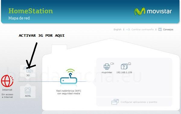 Como configurar  tu router  Home-Station de Movistar con un modem 3G (2/2)