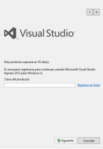 registro visual studio 2012