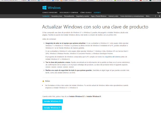 actualizar windows 8