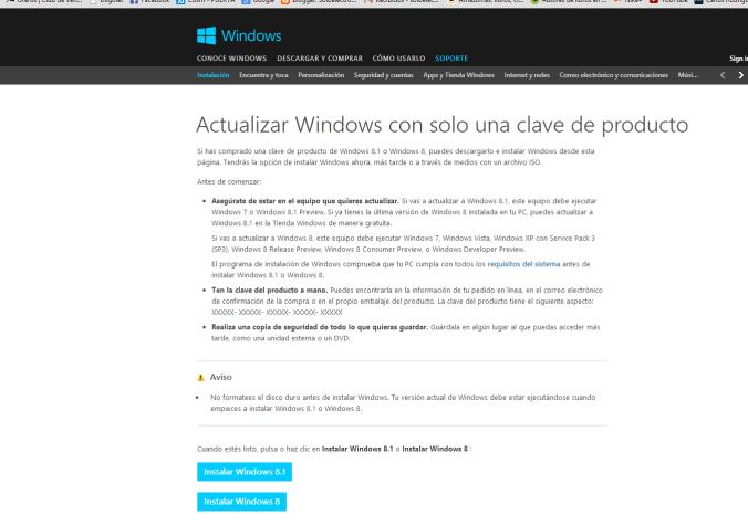 actualizar windows 8
