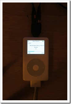 iPod Photo loading Horace and the Spiders